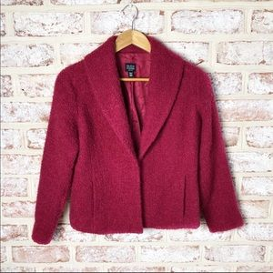 Eileen Fisher Wool Boucle Blazer Coat Jacket SP